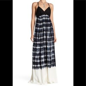 NWT Splendid Mesh Knit Tie Dye Maxi Dress